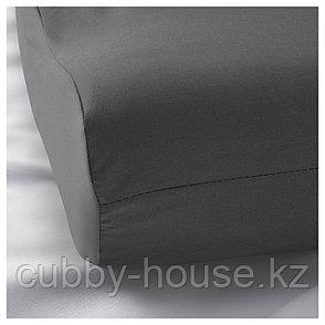РОЛЛЕКА Наволочка д/подушки(ппу/эфф памяти), серый, 33x50 см, фото 2