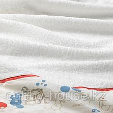 РЁДХАКЕ Полотенце с капюшоном, орнамент «кролики/черника», 60x125 см, фото 3
