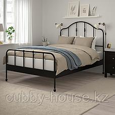 САГСТУА Каркас кровати, черный, 140x200 см, фото 3