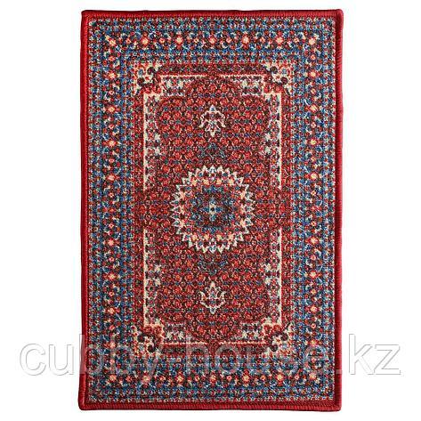 СКИВХОЛЬМЕ Придверный коврик, красный, синий, 60x90 см, фото 2