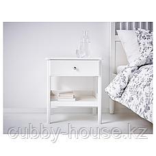 ТИССЕДАЛЬ Тумба прикроватная, белый, 51x40 см, фото 2