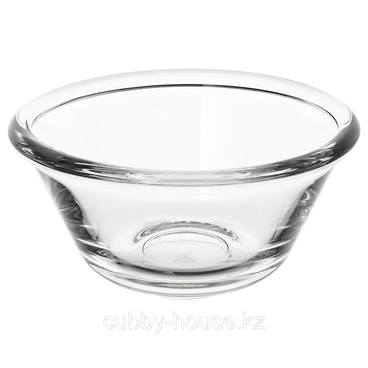 ВАРДАГЕН Миска, прозрачное стекло, 15 см