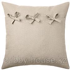 АЙНА Чехол на подушку, бежевый, 50x50 см, фото 3
