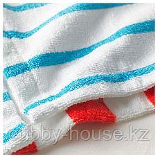 СЬЁЛЕЙОН Халат купальный, в полоску синий, красный, 152/164, фото 2