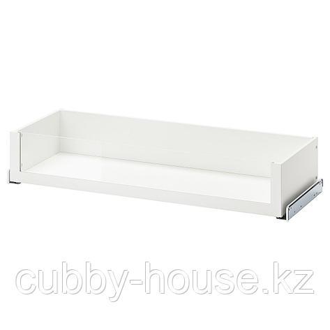 КОМПЛИМЕНТ Ящик со стеклянной фронтал панелью, белый, 50x35 см, фото 2