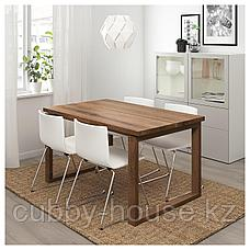 МОРБИЛОНГА / БЕРНГАРД Стол и 4 стула, коричневый, Мьюк белый, 140x85 см, фото 2