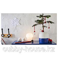 ГОДТАГБАР Ваза, керамика белый/синий, 18 см, фото 3