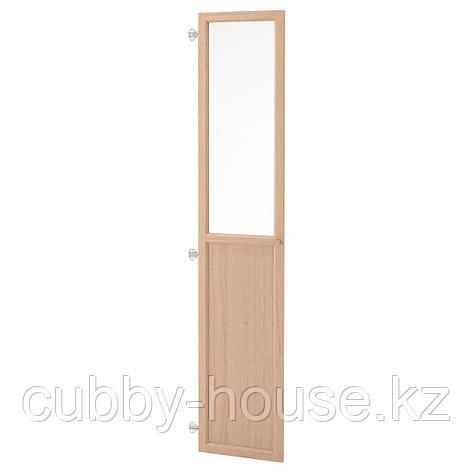 ОКСБЕРГ Панельн/стеклян дверца, белый, 40x192 см, фото 2