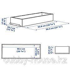 КОМПЛИМЕНТ Ящик, под беленый дуб, 100x35 см, фото 3