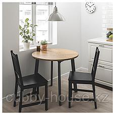 ГАМЛАРЕД / СТЕФАН Стол и 2 стула, светлая морилка антик, коричнево-чёрный, фото 2