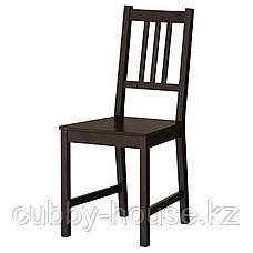 ГАМЛАРЕД / СТЕФАН Стол и 2 стула, светлая морилка антик, коричнево-чёрный, фото 3
