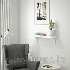 БЕРГСХУЛЬТ / РАМСГУЛЬТ Полка навесная, коричнево-чёрный, 80x30 см, фото 2
