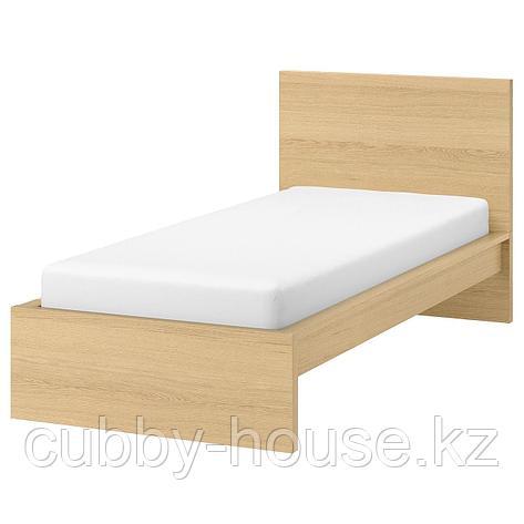 МАЛЬМ Каркас кровати, белый, 90x200 см, фото 2
