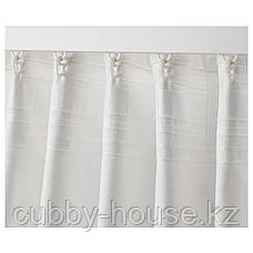 ТИБАСТ Гардины, 1 пара, белый, 145x300 см, фото 3