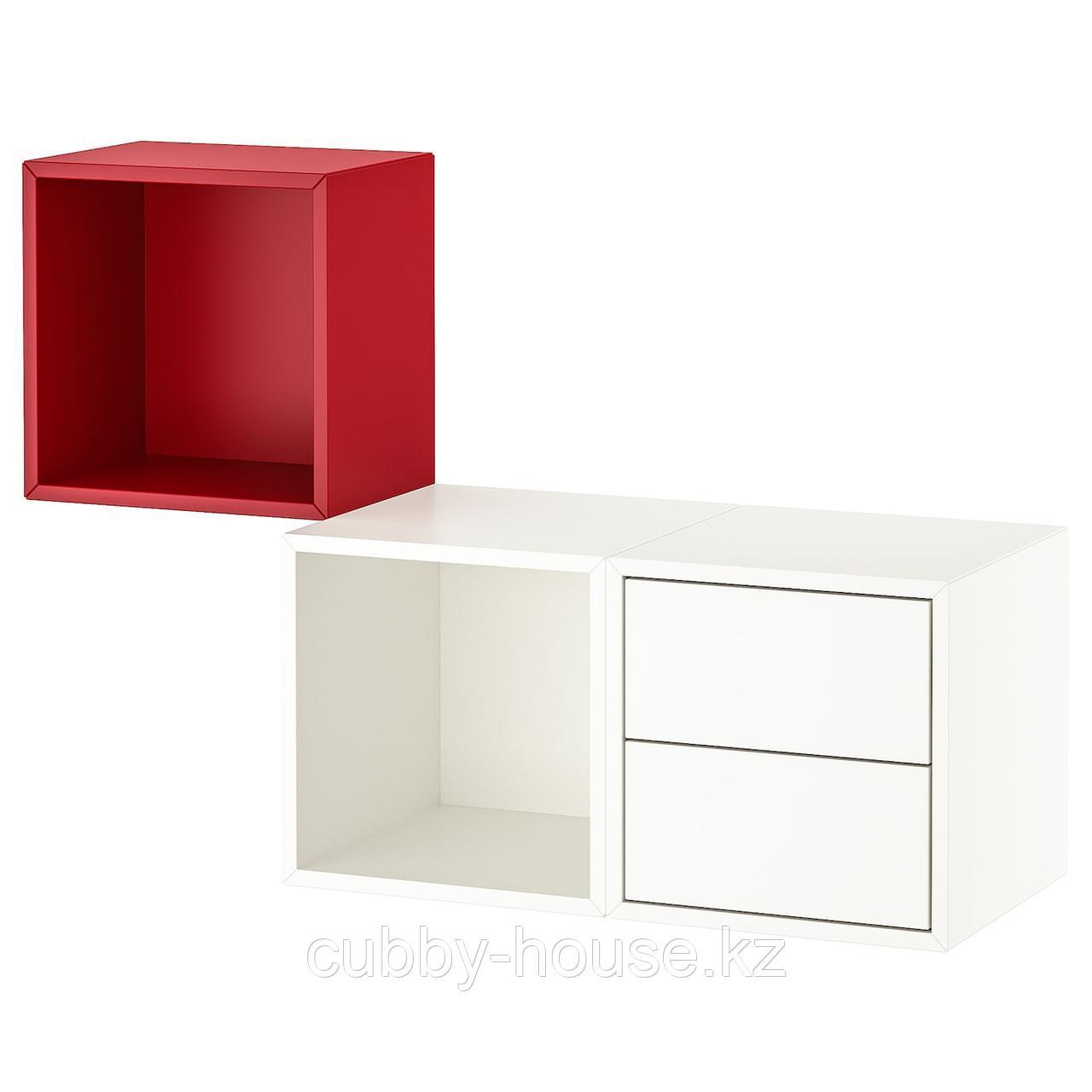 ЭКЕТ Комбинация д/хранения, белый, 105x35x70 см