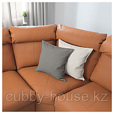 ЛИДГУЛЬТ Угловой 6-местный диван, с козеткой, Гранн/Бумстад золотисто-коричневый, фото 2