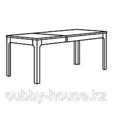 ЭКЕДАЛЕН Раздвижной стол, темно-коричневый, 120/180x80 см, фото 2