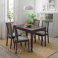 ЭКЕДАЛЕН Раздвижной стол, темно-коричневый, 120/180x80 см, фото 3