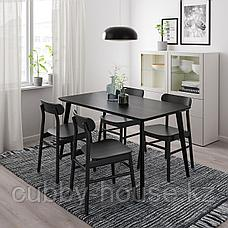 ЛИСАБО Стол, черный, 140x78 см, фото 2