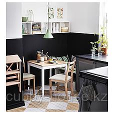ЛЕРХАМН Стол, светлая морилка антик, белая морилка, 74x74 см, фото 2