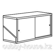 СВАЛЬНЭС Шкаф с 2 дверьми, бамбук, белый, 61x35 см, фото 2