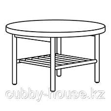 ЛИСТЕРБИ Журнальный стол, белая морилка дуб, 90 см, фото 3