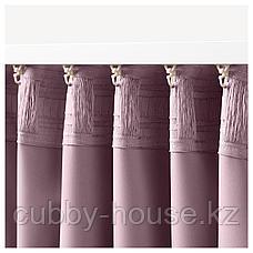 МАЙГУЛЛ Затемняющие гардины, 1 пара, светло-розовый, 145x300 см, фото 3