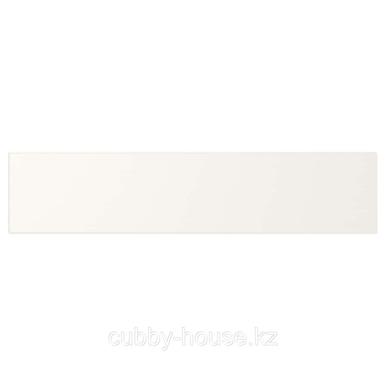 УТРУСТА Фронтальная панель ящика, низкая, белый, 80 см