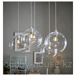 ЯКОБСБЮН Абажур для подвесн светильника, прозрачное стекло, фото 2