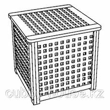ХОЛ Придиванный столик, акация, 50x50 см, фото 3