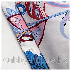 СВАВЕЛПИОН Пододеяльник и 1 наволочка, белый синий, красный, 150x200/50x70 см, фото 3