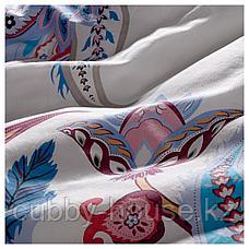 СВАВЕЛПИОН Пододеяльник и 1 наволочка, белый синий, красный, 150x200/50x70 см, фото 2