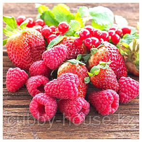 СИНЛИГ Ароматическая свеча в стакане, Красные садовые ягоды, красный, 9 см, фото 2