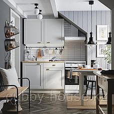 КНОКСХУЛЬТ Кухня, серый, 120x61x220 см, фото 3