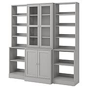 ХАВСТА Комбинация д/хранения+стекл дверц, белый, 203x47x212 см