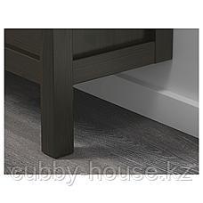 ХЕМНЭС Галошница, 4 отделения, черно-коричневый, 107x101 см, фото 2