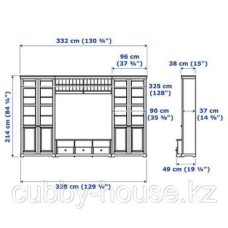 ЛИАТОРП Шкаф для ТВ, комбинация, белый, 332x214 см, фото 2