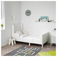 БУСУНГЕ Раздвижная кровать, белый, 80x200 см, фото 2