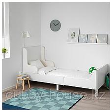 БУСУНГЕ Раздвижная кровать, белый, 80x200 см, фото 3
