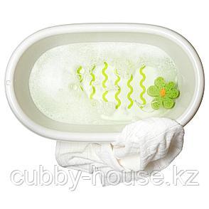 ЛЭТСАМ Ванночка детская, белый, зеленый, фото 2