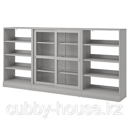 ХАВСТА Комбинация с раздвижными дверьми, белый, 283x37x134 см, фото 2