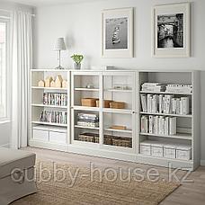 ХАВСТА Комбинация с раздвижными дверьми, белый, 283x37x134 см, фото 3