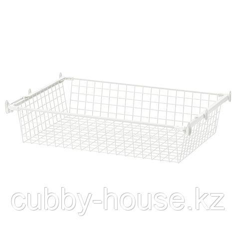 ХЭЛПА Проволочн корзина с направляющими, белый, 60x55 см, фото 2