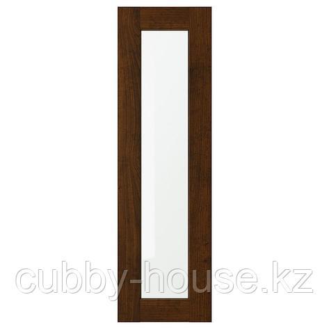 ЭДСЕРУМ Стеклянная дверь, под дерево коричневый, 30x80 см, фото 2