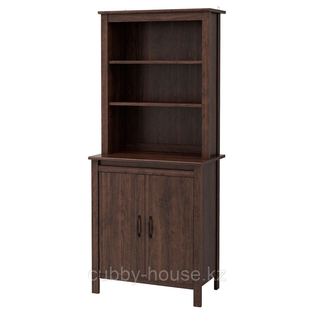 БРУСАЛИ Высокий шкаф с дверцей, белый, 80x190 см
