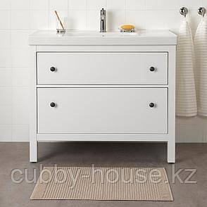 АЛЬСТЕРН Коврик для ванной, бежевый, 50x80 см, фото 2