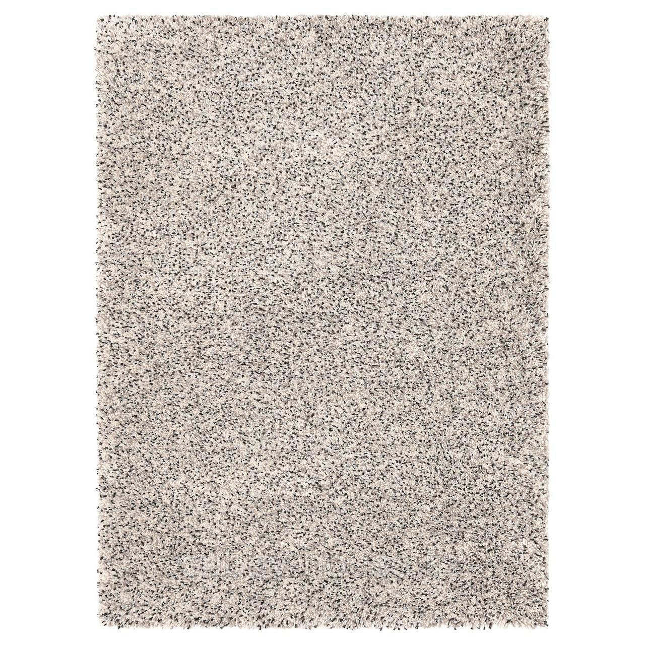 ВИНДУМ Ковер, длинный ворс, белый, 200x270 см