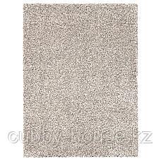 ВИНДУМ Ковер, длинный ворс, белый, 200x270 см, фото 2
