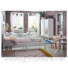 СУНДВИК Раздвижная кровать с реечным дном, белый, 80x200 см, фото 2