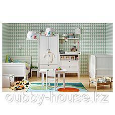 СУНДВИК Раздвижная кровать с реечным дном, белый, 80x200 см, фото 3